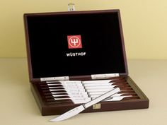 buy gifts for the gourmet steak knife set with wood case (8-pc.) by wusthof at chef knife guru. get steak knives and wusthof, along with reviews, home entertaining tips and more. cook and entertain like a pro with kitchenware from chef knife guru.