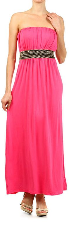 Pink Embellished Strapless Maxi Dress. Maxi dress fashions. I'm an affiliate marketer. When you click on a link or buy from the retailer, I earn a commission.