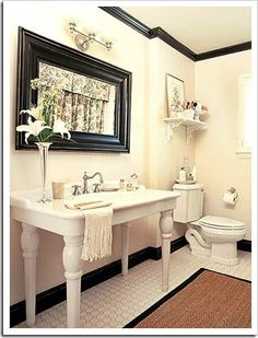 Traditional Bathroom Idea with Classical White Vanity