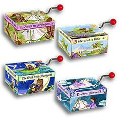 Mini Music Boxes Storybook - Honeybee Toys