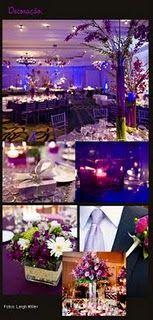 decoração casamento roxo