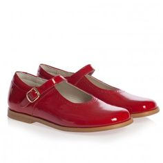 Children's Classics Girls Red Patent Leather Mary Jane Bar Shoes  at Childrensalon.com