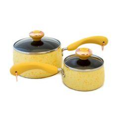 Paula Deen Signature Porcelain 'Butter' 2-piece Saucepan Set - http://cookware.everythingreviews.net/8213/paula-deen-signature-porcelain-butter-2-piece-saucepan-set.html