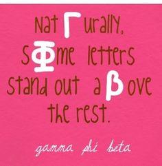 Gamma Phi Beta door letters