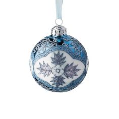 French Blue and Linen Ornament Accent Kit, Set of Six