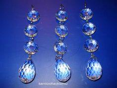 6.2.1 Zawieszka kryształowa z łezką 31mm - dekoracja lamp, kinkietów, firan