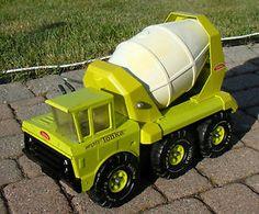Tonka Trucks, Tonka Toys, Concrete Mixers, Concrete Cement, 1980 Toys, Old Toys, Caterpillar, Vintage Toys, Big Kids