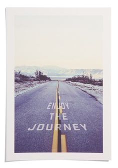 'enjoy the journey' print for your grad