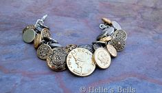 Vintage Button Bracelet by HellesBells on Etsy, $32.00