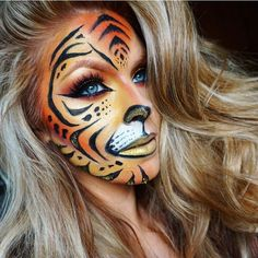 Looking for for inspiration for your Halloween make-up? Browse around this website for creepy Halloween makeup looks. Halloween 2018, Halloween Makeup Looks, Halloween Make Up, Leopard Halloween, Tiger Halloween, Scary Halloween, Crazy Makeup, Cute Makeup, Unique Halloween Makeup
