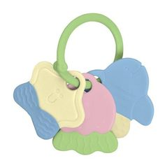 Green Sprouts Teether Keys From i Play - BPA and PVC free! Colorful key shaped teethers keep your baby playful and happy. Polypropylene with TPE teether parts.