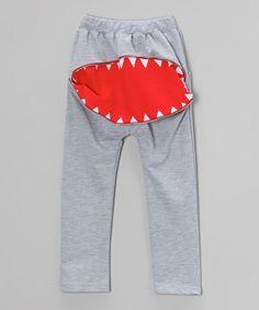 Love this Gray Zipper Teeth Harem Pants - Infant, Toddler  Kids on #zulily! #zulilyfinds