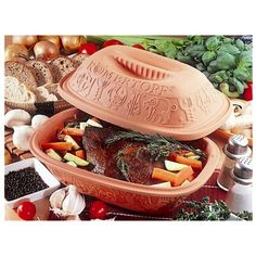 Schlemmertopf Clay Pot Recipes - Fun Cooking for a Healthy Holiday Diet Claypot Recipes, Roast Recipes, Tagine Recipes, Cooker Recipes, Crockpot Recipes, Delicious Recipes, Clay Oven, Cooking Instructions, Clay Pots