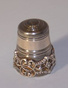 Antique Solid Silver Sewing Thimble with Beautiful Scroll Applied Decoration | eBay Oct 25, 2013 / GBP 27.60