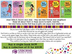 Did you know that Usborne's Billie B Brown and Hey, Jack! series are written for children who are beyond beginner but not quite ready for full page chapter books?