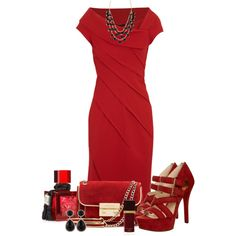 """""""Sizzling red dress"""" by leilani-almazan on Polyvore"""