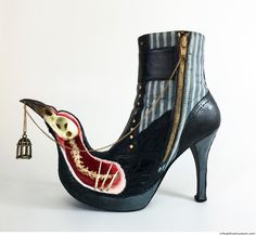 Mixed media sculpture Material: mixed media on a shoe cast in fiberglass. © Costa Magarakis