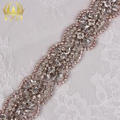 (10yards) Wholesale 1 Yard Sewing On Hot Fix Sliver Beaded Crystal Rhinestone Applique and Trimming Bridal Dresses or Sash-in Rhinestones from Home, Kitchen & Garden on Aliexpress.com | Alibaba Group