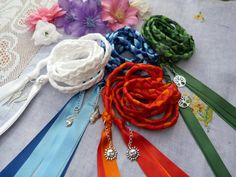 Set of 4 cords  honouring the elements Hand fasting cord