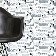 weiner dog wallpaper from Walnut Wallpaper