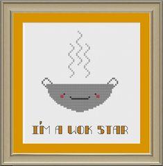 I'm a wok star: funny cross-stitch pattern
