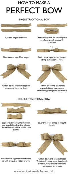 How to make the perfect bow DIY tutorial