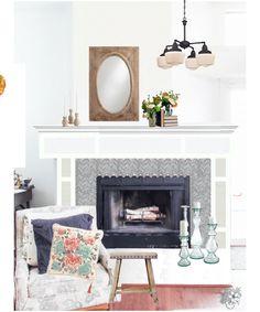 Living room Redesign, Living room Mood Board, Family Room, Neutral Design, Neutral Living Room, Romantic Industrial