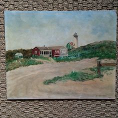 Vintage lighthouse painting  vintage by PalmTreesandPelicans