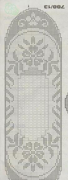 table runner - Filet Crochet