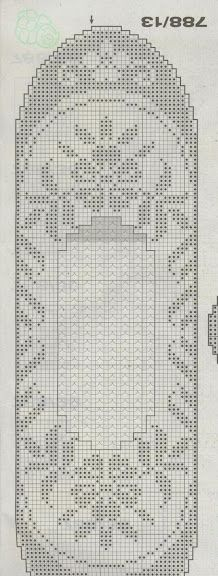 table runner - Filet Crochet