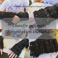 Patron gratuit de chauffe-poignets d'inspiration Outlander en tricot Mélanie, du tricot et bien plus!