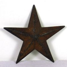 """12"""" Distressed Cream rusty Metal Barn Wall Star -  Great accent for Shabby Cottage Chic, Country Primitive, French Country, Early American or farmhouse style home decor! An outerbankscountrystore.com Exclusive!"""