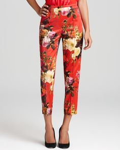 BASLER Floral Satin Pants - Bloomingdale's Exclusive | Bloomingdale's