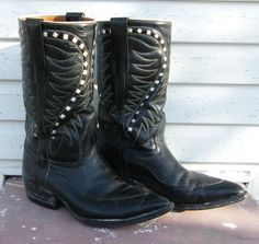 Vintage Black Stovepipe Boots by bootmaker on Etsy, $85.00