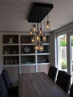 #mason lamp Bookcase, Chandelier, Shelves, Ceiling Lights, Lighting, Home Decor, Candelabra, Shelving, Decoration Home