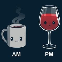 Wine O'Clock T-Shirt TeeTurtle
