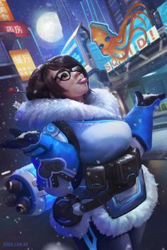 Mei - Overwatch Fanart, Rodrigo Ramos on ArtStation at https://www.artstation.com/artwork/VaeR5