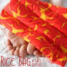 Free Rice Bag Pattern from Shiny Happy World