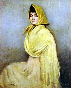 Mujer de amarillo, Ramón Casas i Carbó (Spanish, 1866-1932)