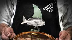 Brand design & illustration for United Fish Co. aprons.
