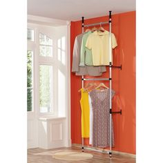 TELESKOPIK  Clothes Rail La Redoute Interieurs : price, reviews and rating, delivery. The Teleskopik clothes rail easily fits into a cupboard or hallway! Its telescopic design means there's no need for tools to assemble it! Description of Teleskopik clothes rail:2 hanging rails made from anodised aluminium.Features of Teleskopik clothes rail:In aluminium with an epoxy finish.Black ABS plastic tips.Structure is mounted between the floor and the ceiling with the option of fixing it to ...