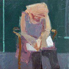 Katie Reading, Arthur Neal, oil on canvas, 20 x Interesting Faces, Figure Painting, Figurative Art, Art Images, Oil On Canvas, Book Art, Abstract Art, Art Gallery, Illustration Art