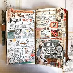 Midori Traveler's Notebook ideas and layouts. Inspiration for keeping a trav… Midori Traveler's Notebook ideas and layouts. Inspiration for keeping a travel journal, art journal or scrapbook Bullet Journal Inspo, Junk Journal, Album Journal, Planner Bullet Journal, Travel Journal Pages, Scrapbook Journal, Travel Scrapbook, Travel Journals, Journal Notebook