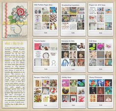 idea for journal Pinterest page with digi page protectors! <3