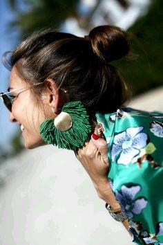 Casual Classic Summer Jewelry: Tassel earrings.