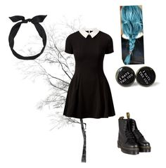 """""""Gothic"""" by hannahcharlie ❤ liked on Polyvore featuring yunotme, Cameo Rose, Dr. Martens, women's clothing, women's fashion, women, female, woman, misses and juniors"""