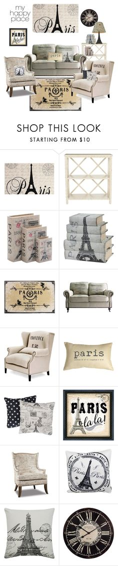 """My happy place.. Paris!"" by lillialessandra ❤ liked on Polyvore featuring interior, interiors, interior design, home, home decor, interior decorating, Safavieh, Home Decorators Collection, Pillow Decor and Elico Ltd."