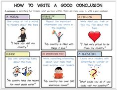 Writing a good conclusion