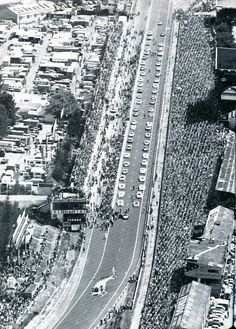 24 Hours Le Mans, start, 1976.                                                                                                                                                                                 More