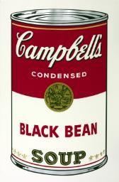 'Black Bean', Andy Warhol, 1968   Tate
